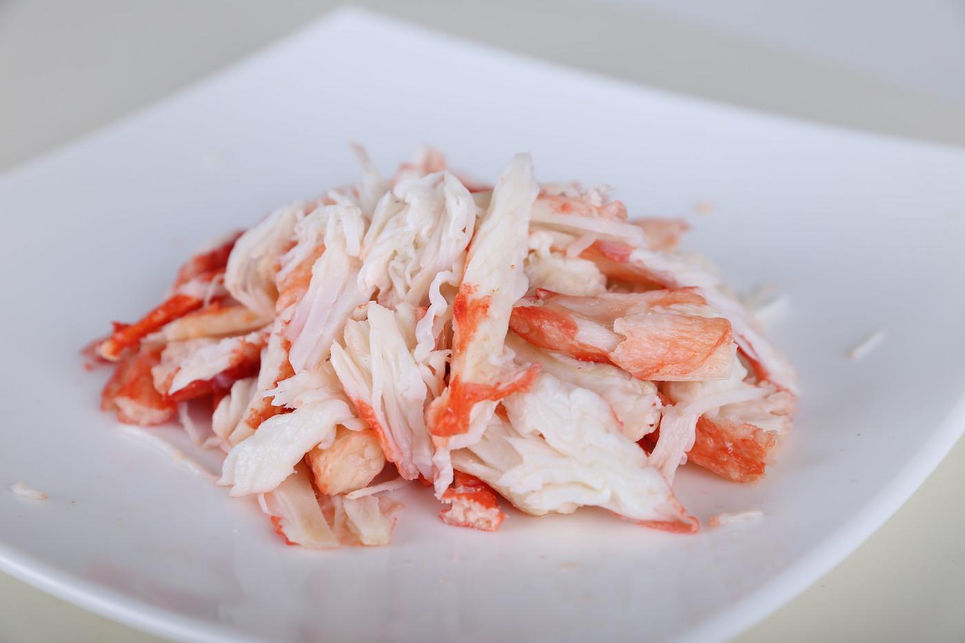 Мясо краба – Краб камчатский (мясо салатное)